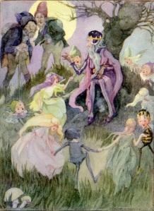 Gente menuda, ilustración de Anne Anderson sobre el texto de los Hermanos Grimm