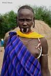 Mujer de la etnia Mursi, © Carlos Manzano (http://www.carlosmanzano.net)