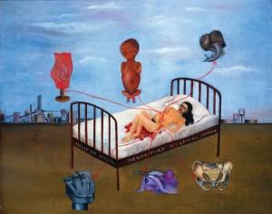 La cama volando, Frida Kahlo (1932)