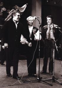 Con Gabriel García Márquez en diciembre 1982, en un homenaje al flamante Premio Nobel, en la Casa del Pueblo de Estocolmo