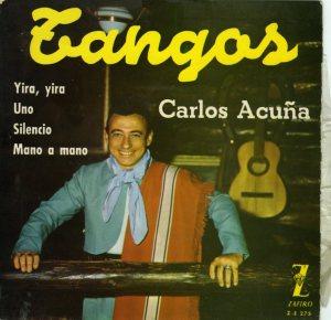 Carlos Acuña, portada de disco