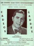Carlos Gardel-Partitura editada en Zaragoza 1935