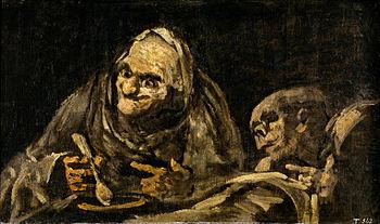 Dos viejos comiendo sopa, de Francisco de Goya