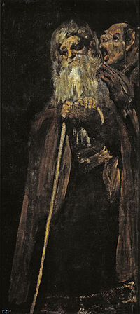 Dos viejos, de Francis co de Goya