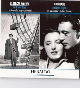 """Cubierta del DVD de la película """"El tercer hombre"""", distribuida con la edición dominical de Heraldo de Aragón"""