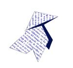Pajarita-Imagen representativa de la Asociación Aragonesa de Escritores