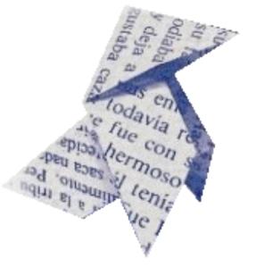 Pajarita antigua de la Asociación Aragonesa de Escritores