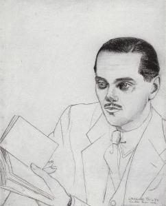 Luis Cernuda, retratado por Gregorio Prieto en 1939 (http://gregorioprieto.org)