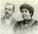 Odón de Buen y su esposa