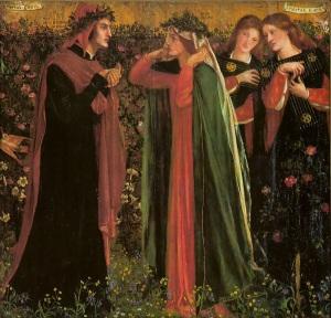 Saludo a Beatriz. Dante Grabriel Rossetti, 1859