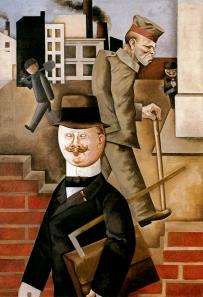 George Grosz - Día gris. Funcionario municipal encargado de la asistencia a los mutilados de guerra (1921)