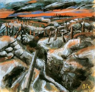 Otto Dix - Trinchera (1917)