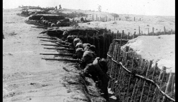 Primera Guerra Mundial. Trincheras
