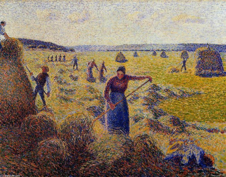 La cosecha del heno en Eragny. Camlile Pisarro