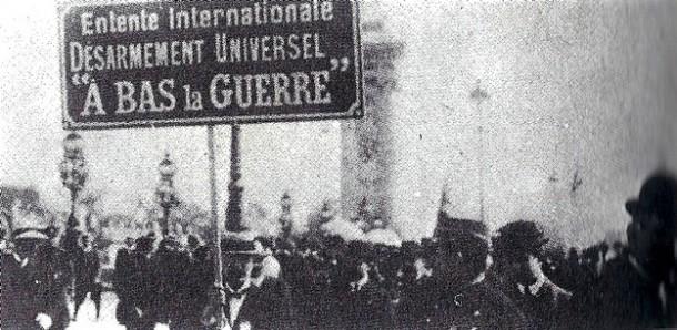 Manifestación pacifista