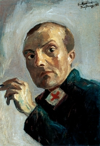 Max Beckmann - Autorretrato como enfermero (1915)