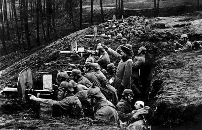 Trinchera alemana con ametralladoras (191