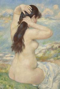 Bañista peinándose. Jean Renoir.