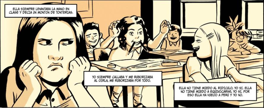 Fragmento del cómic Todos vuelven, guion de Gabriela Wiener y dibujos de Natacha Bustos.