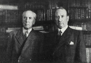 Zamacois con el embajador mejicano en 1937
