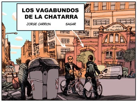Barcelona. Los vagabundos de la chatarra. Jorge Carrión y Sagar. Cabecera del cómic