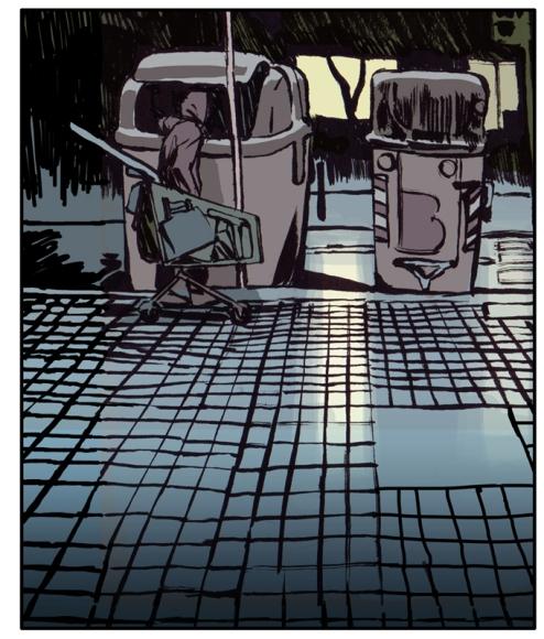 Barcelona. Los vagabundos de la chatarra. Jorge Carrión y Sagar. Viñeta