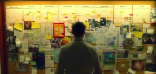 Flashforward, Mural de las visiones y la investigación