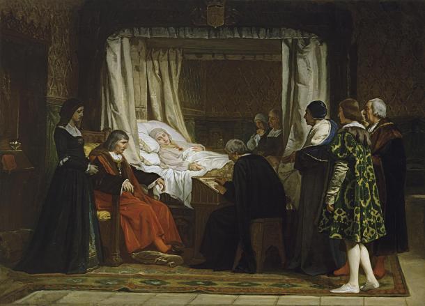Doña Isabel la Católica dictando testamento. Eduardo Rosales (Museo del Prado)
