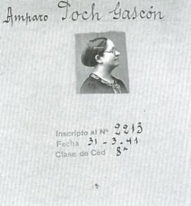 Ficha del consulado español en Montpellier, 1941