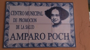 Poch, Amparo_Placa Consultorio en Zaragoza