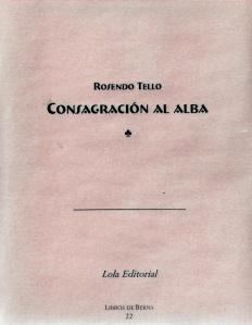 ROSENDO TELLO. PORTADA CONSAGRACIÓN